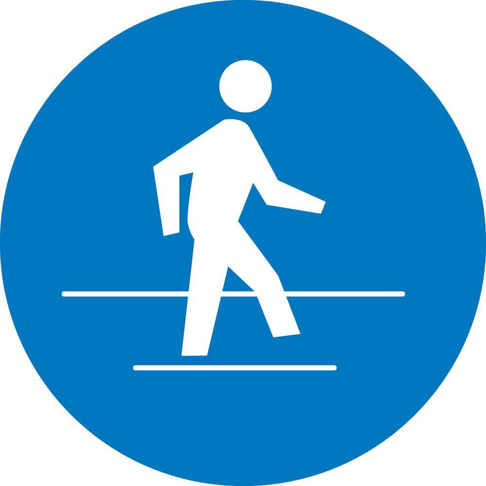 Graphic Use Pedestrian Route Iso Label - 10 Pack