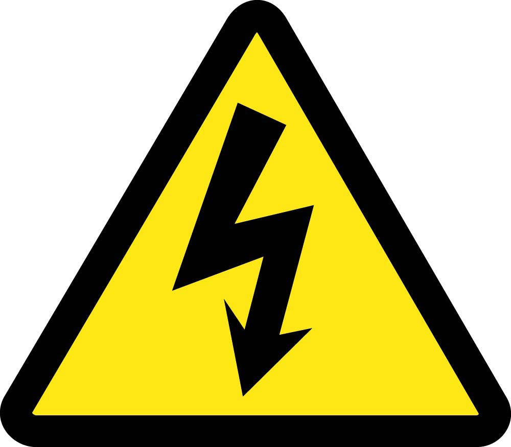 Electric Voltage Hazard Iso Label - 10 Pack