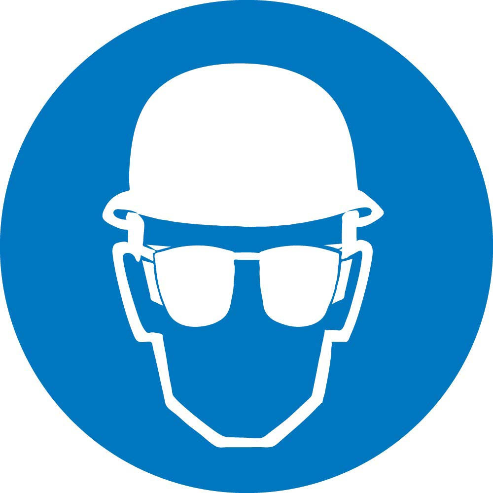 Graphic Wear Head And Eye Protection Iso Label - 5 Pack