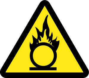 Graphic Oxidizing Materials Hazard Iso Label - 5 Pack