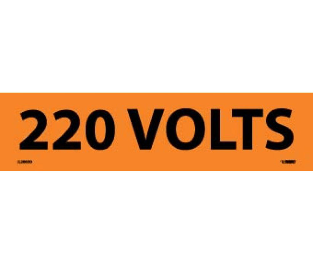 220 Volts Electrical Marker - Roll