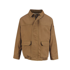 Bulwark - Brown Duck Lined Bomber Jacket - EXCEL FR ComforTouch