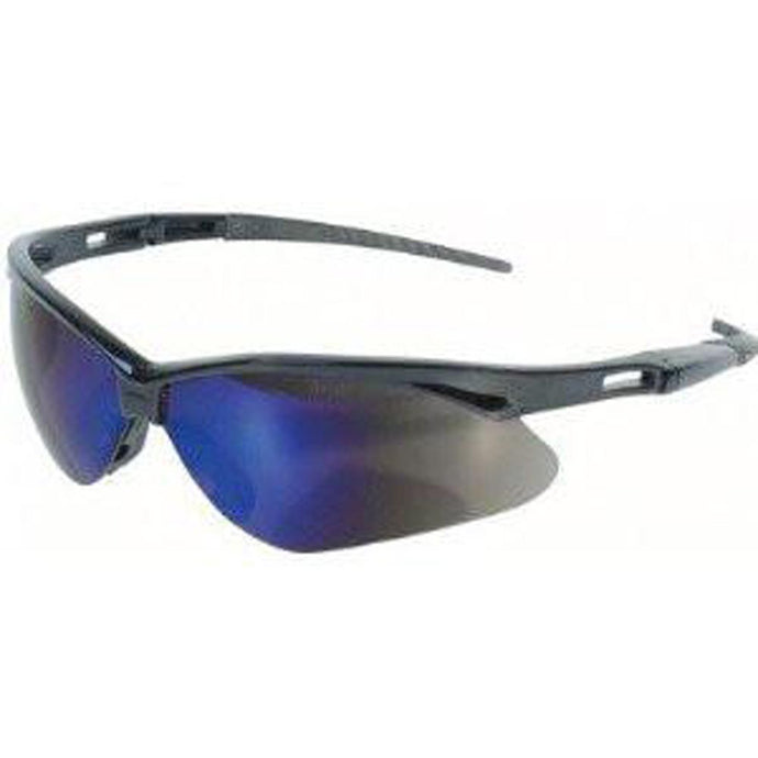 Jackson Nemesis Safety Glasses Black Frame - Blue Mirror Lens