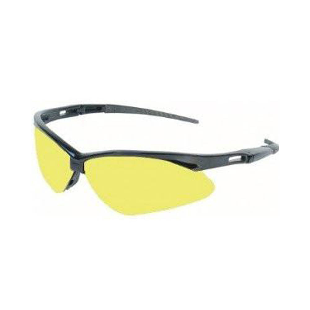 Jackson Nemesis Safety Glasses Black Frame Amber Lens