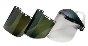 "Kimberly-Clark Professional* Jackson Safety* Model F30 9"" X 15 1/2"" X .04"" Dark Green Aluminum Bound Acetate Faceshield For Use With Headgear"