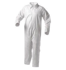 Kimberly-Clark Professional* Large White KLEENGUARD* A35 Microporous Film Laminate Disposable Liquid And Particle Protection Shell Coveralls With Front Zipper Closure