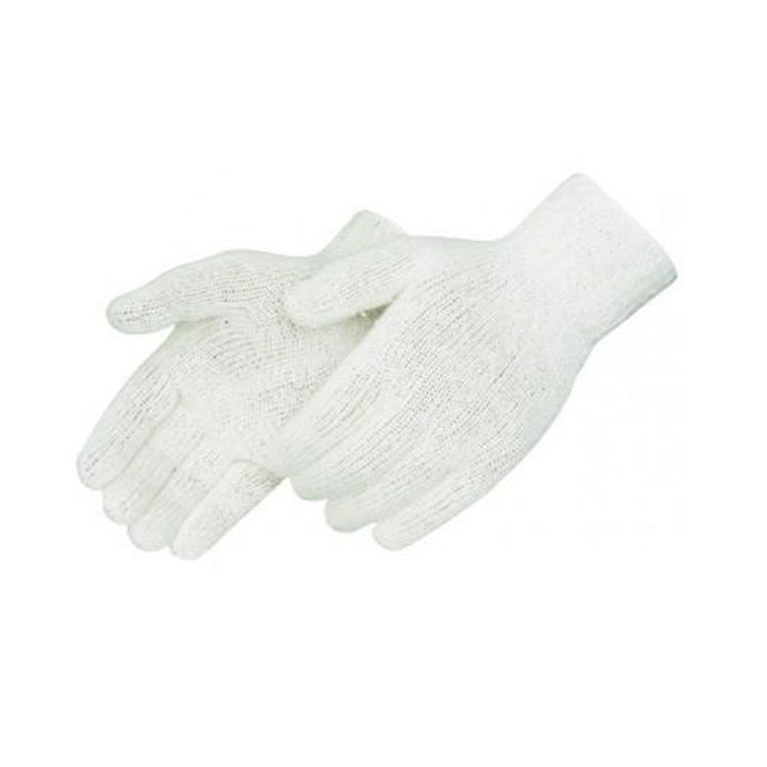 Natural white cotton / polyester knit Gloves - Dozen