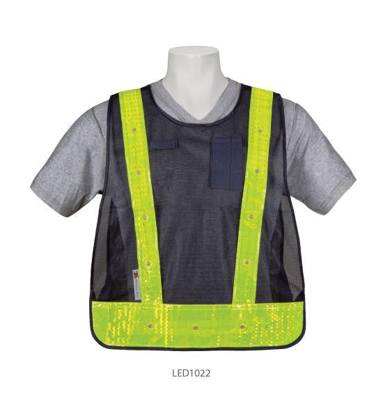 3a Safety Navy Blue Led Light Up Safety Vest One Size Fits