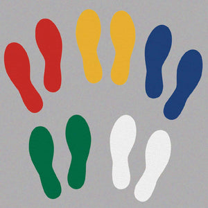 Footprints,, Yellow - Pack of 25