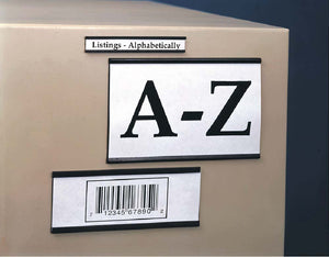 Magnetic Channel  Label Holders, 2X3, .060 Thick, 25/Pk - Pack of 25
