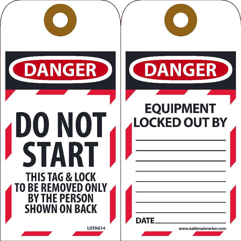 Danger Do Not Start This Tag - 10 Pack