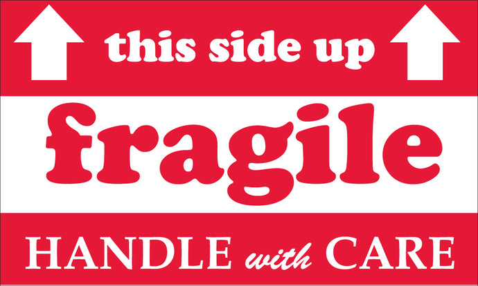 This Side Up Fragile Handle With Care Label - Roll
