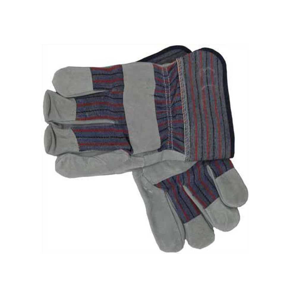 Leather Palm Work Gloves - Dozen
