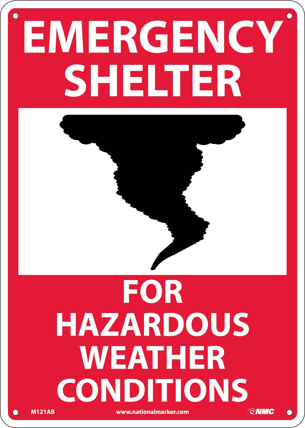 Hazardous Weather Shelter Sign
