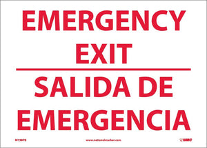Emergency Exit Sign - Bilingual
