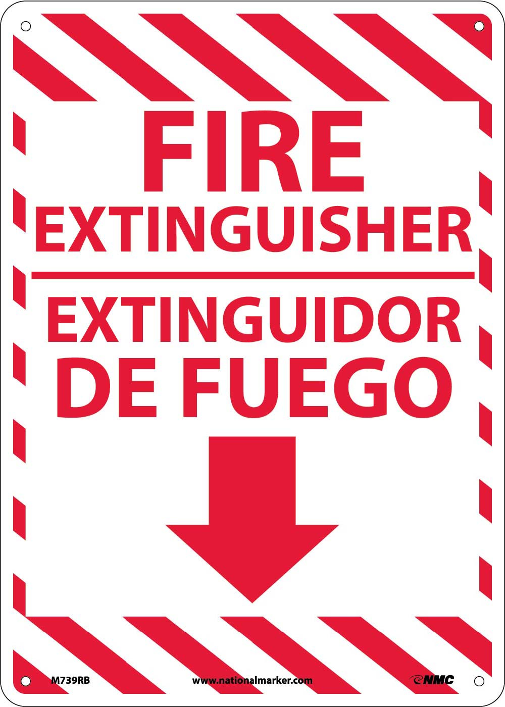 Fire Extinguisher Sign - Bilingual