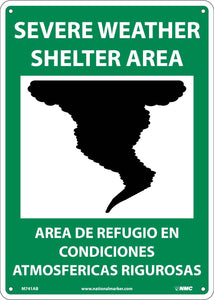 Severe Weather Shelter Area Sign - Bilingual