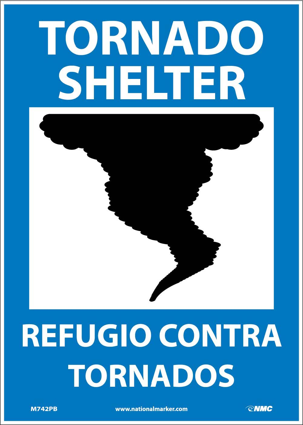 Tornado Shelter Sign - Bilingual