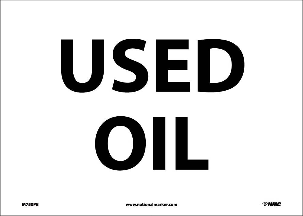 Used Oil Sign