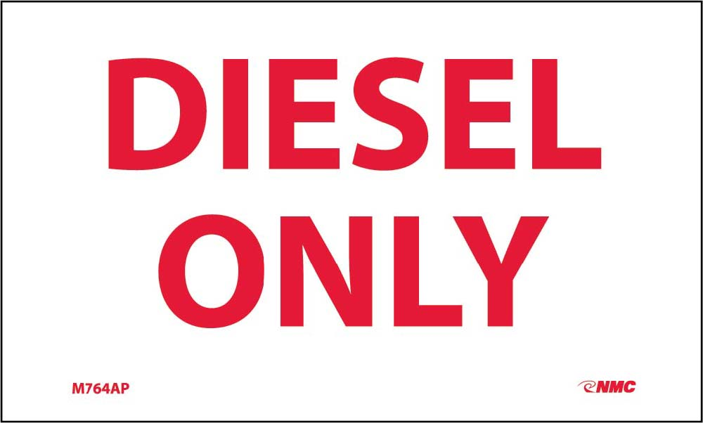 Diesel Only Hazmat Label - 5 Pack