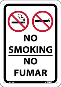 No Smoking Bilingual Sign