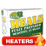 Meal Ready to Eat w/Heaters (MRE) - Box of 12