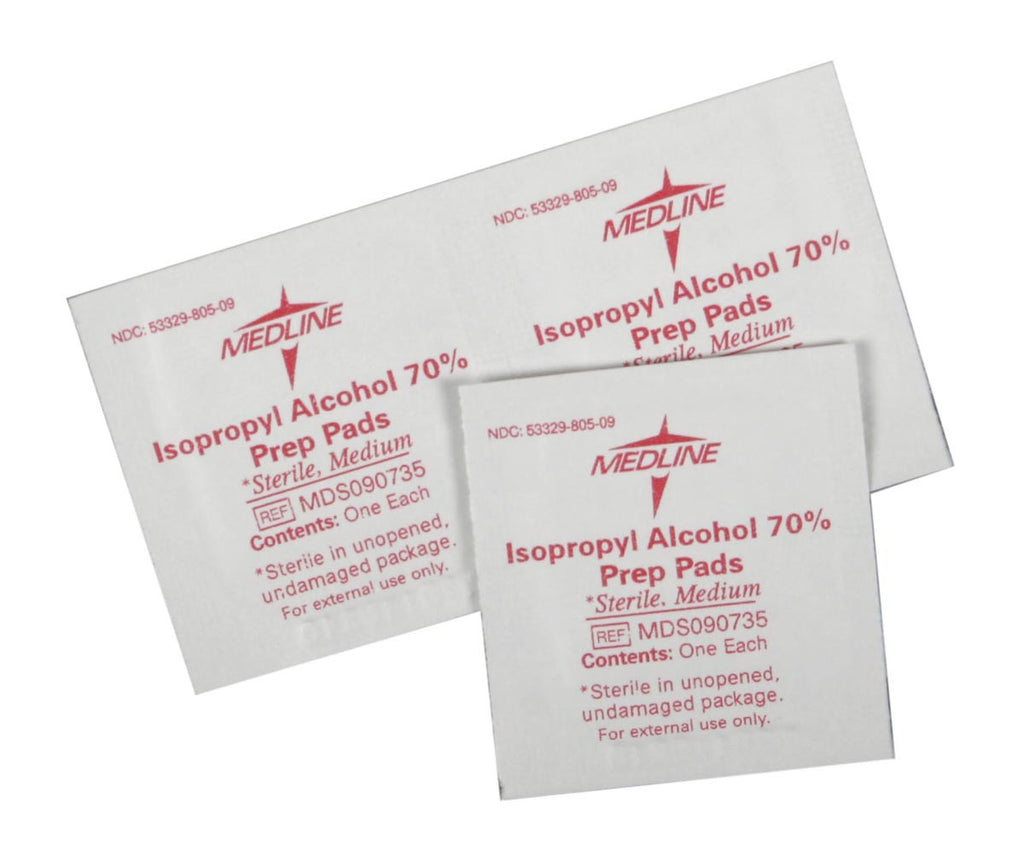 Sterile Alcohol Prep Pads - Case