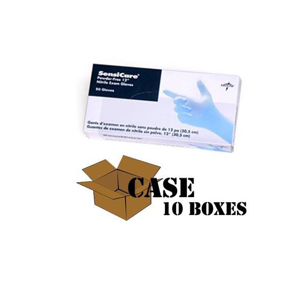 Medline - Sensicare - Ice Blue Nitrile Disposable Gloves - Case