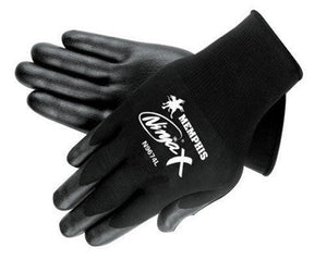 Memphis X-Large Ninja X 15 Gauge Black Nitrile, Polyurethane And Bi-Polymer Dipped Palm And Fingertip Coated Work Gloves With Lycra And Nylon Liner And Knit Wrist