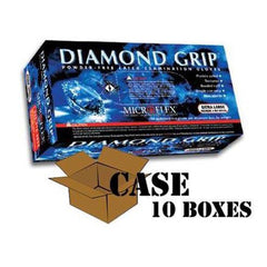 Microflex - Diamond Grip Latex Gloves - Case
