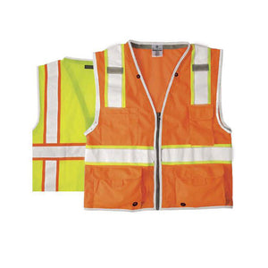 ML Kishigo - BRILLIANT SERIES Heavy Duty Class 2 Safety Vest Color Lime Size Large