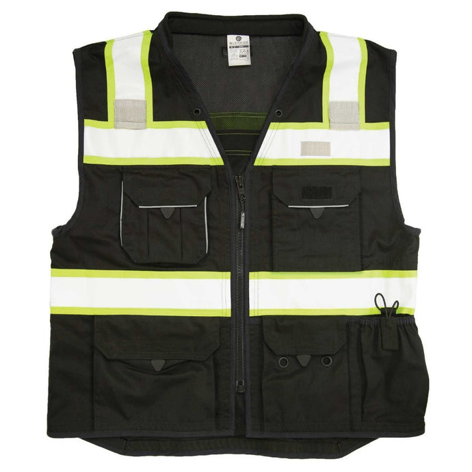 ML Kishigo - Enhanced Visibility Professional Utility Black Vest