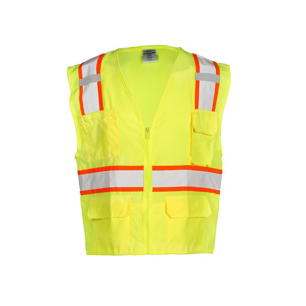 ML Kishigo - Ultra-Cool Mesh Back/Solid Front Surveyor's Vest, Class 2