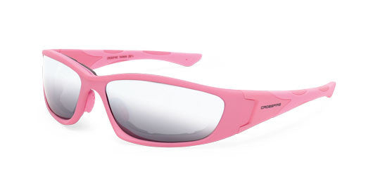 MP7 Silver Mirror Lens Soft Pink Frame Foam Lined