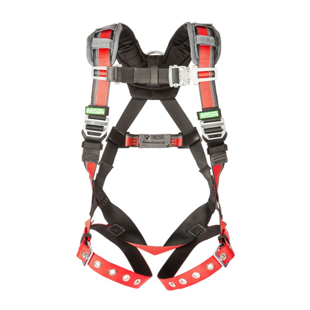MSA EVOTECH X-Large Full Body Harness with Quick Connect Leg Straps and Back D Ring