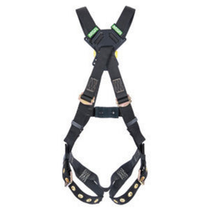 MSA Standard Workman Arc Flash Cross Over Harness With Back Stel D-Ring And Qwik-Fit Leg Straps