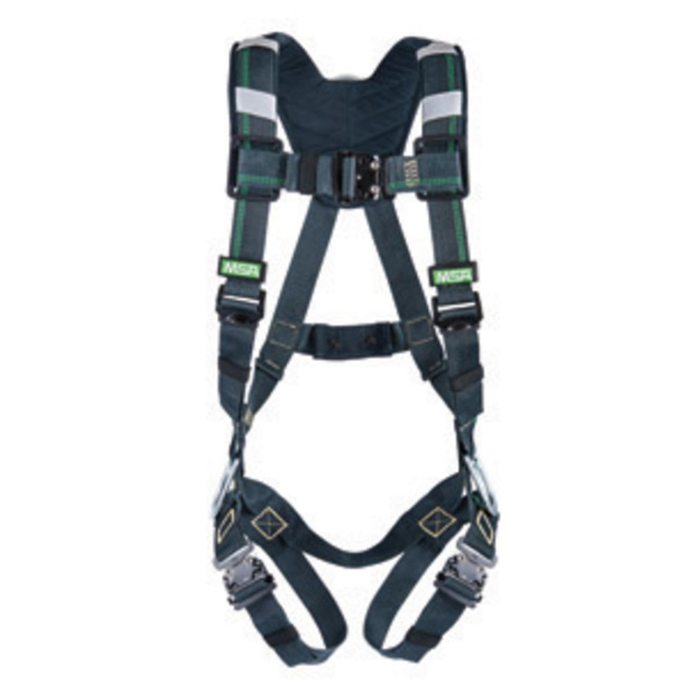 MSA Super X-Large EVOTECH Arc Flash Full-Body Harness With Back Steel D-Ring, Quick Connect-Leg Straps And Shoulder Padding