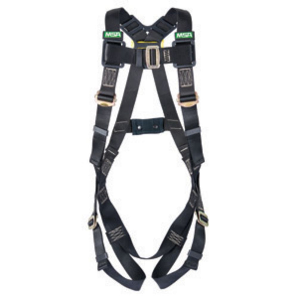 MSA Super X-Large Workman Arc Flash Vest Style Harness With Back Steel D-Ring And Tongue Buckle Leg Straps