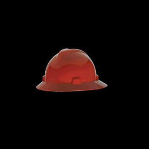 MSA V-Gard Full Brim Hard Hat With Fas-Trac Suspension