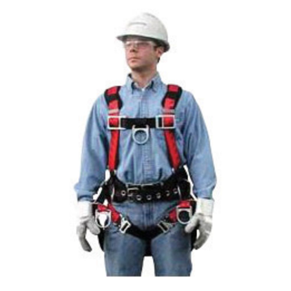 MSA X-Large TechnaCurv Full Body/Vest Style Harness With Tongue Leg Strap Buckle And Padding Shoulder