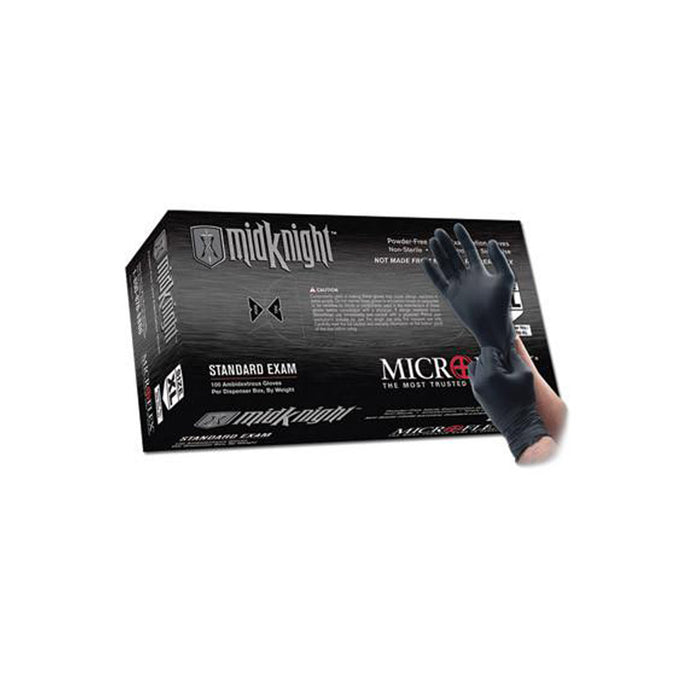 Microflex - Black MidKnight Nitrile Gloves - Box