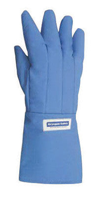 National Safety Apparel Size 9 Olefin And Polyester Lined Nylon Taslan And PTFE Mid-Arm Length Water Resistant Cryogen Gloves