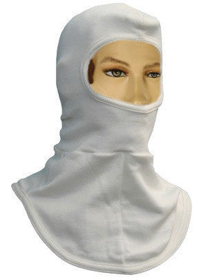 National Safety Apparel One Size Fits All White 6 Ounce Modacrylic Nomex Flame Resistant Hood