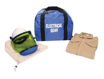 National Safety Apparel 2X Navy Blue Arc Flash Kit With Coverall, Hard Cap, Faceshield, Chin Cup, Safety Glasses And Gear Bag