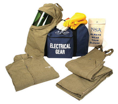 National Safety Apparel Large Navy UltraSoft ArcGuard Compliance Level 4 Flame Resistant Arc Flash Personal Protection Equipment Kit With Size 9 Gloves