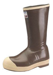 "Norcross Size 13 XTRATUF Copper Tan 16"" Insulated Neoprene Boots With Chevron Outsole And Steel Toe"