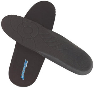 "Servus By Honeywell Size 8 Black 3 5/8"" X 1"" X 10 3/4"" Breath-O-Prene Replacement Insole With Built-In Heel Cup And Arch Support"