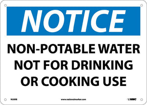 Notice Non-Potable Water Sign