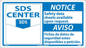 Notice Safety Data Sheets Available Sign - Bilingual
