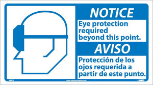 Notice Eye Protection Required Sign - Bilingual